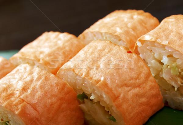 Japonês sushi tradicional comida japonesa peixe mar Foto stock © fanfo