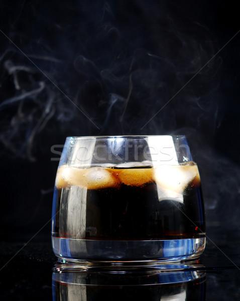Whiskey Cola noir fête bar boire Photo stock © fanfo