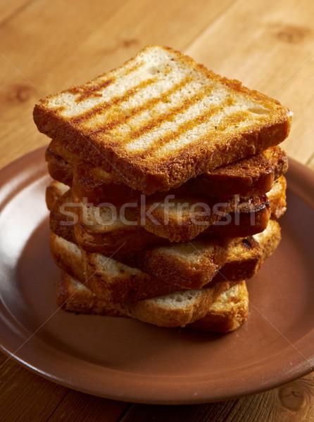 Torrado pão fatias para cima pão branco Foto stock © fanfo