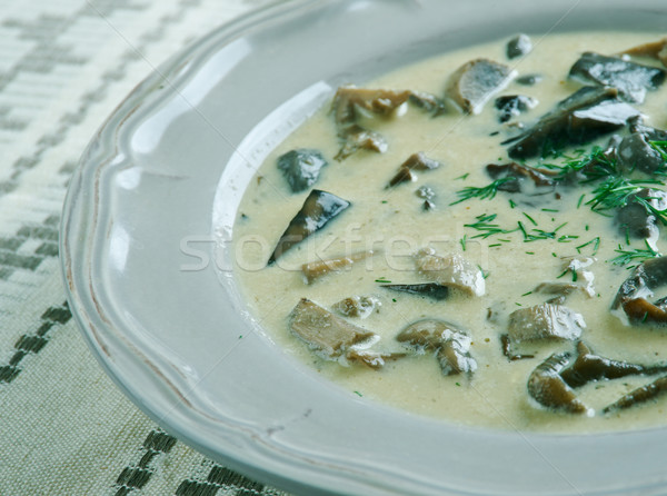 Finnish mushroom sauce Stock photo © fanfo