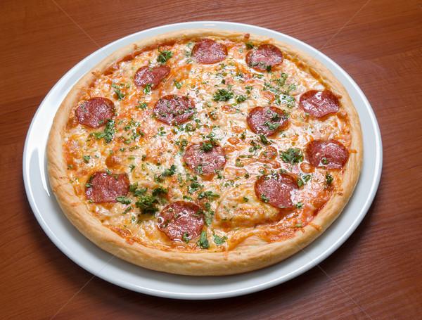 пиццы пепперони ресторан сыра обеда горячей Сток-фото © fanfo