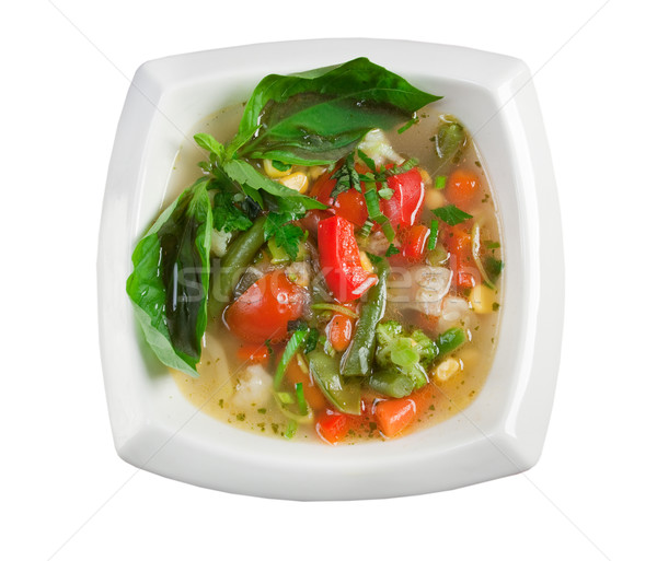 Minestrone vegetable soup Stock photo © fanfo