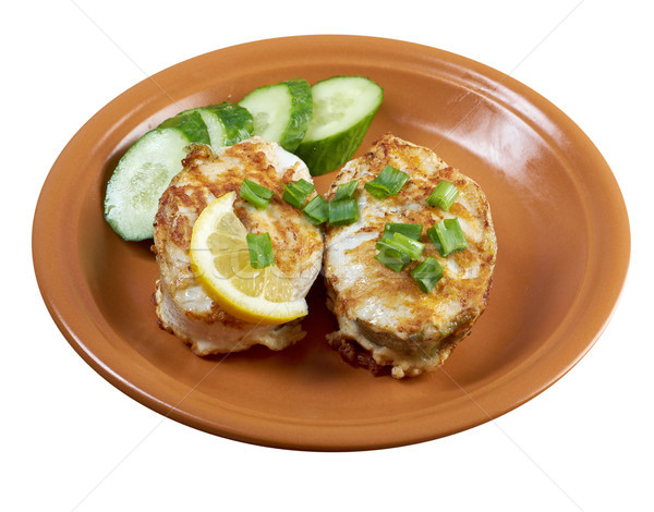 grilled t-bone codfish  steak Stock photo © fanfo