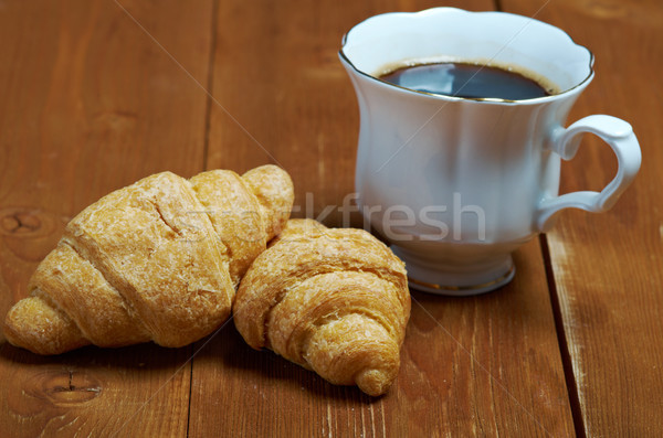 Kávéscsésze fahéj croissant kávé étel kávé Stock fotó © fanfo