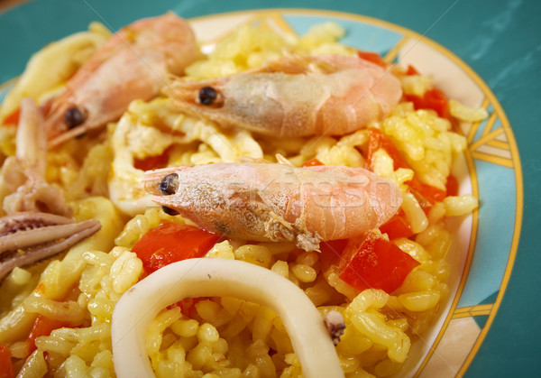 Spanish Paella de Marisco Stock photo © fanfo