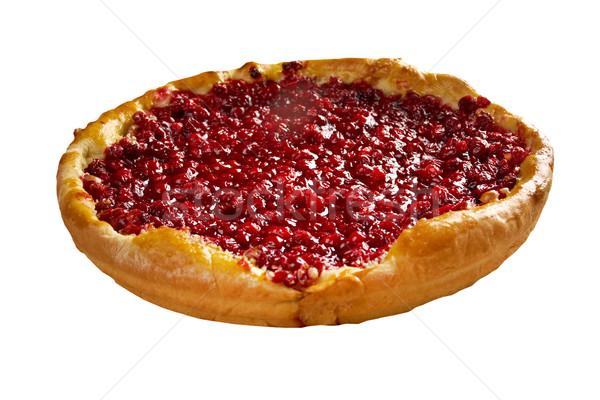 Stock photo: Round piece cowberry