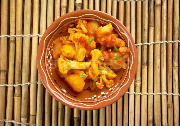パキスタンの インド 皿 野菜 ストックフォト © fanfo