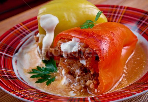 詰まった パプリカ 肝臓 豚肉 コメ 食品 ストックフォト © fanfo