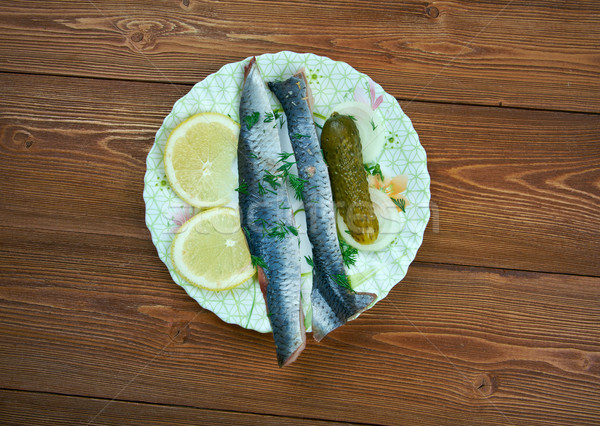 Typical Dutch salted herring Stock photo © fanfo