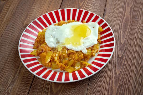Pirinç gıda yumurta Asya Stok fotoğraf © fanfo