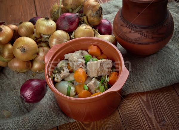 Forró pörkölt hagyományos hús régió étel Stock fotó © fanfo
