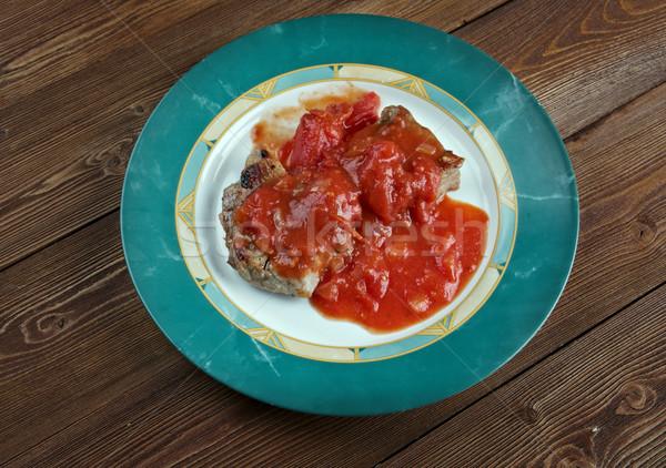 Gelenek özellikleri et pişmiş domates Stok fotoğraf © fanfo