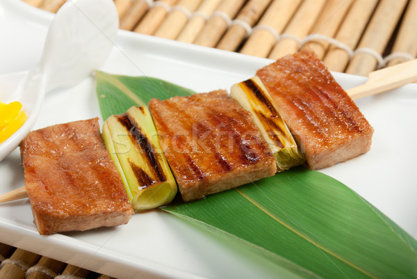 Japon kebap mutfak gıda kalp Asya Stok fotoğraf © fanfo
