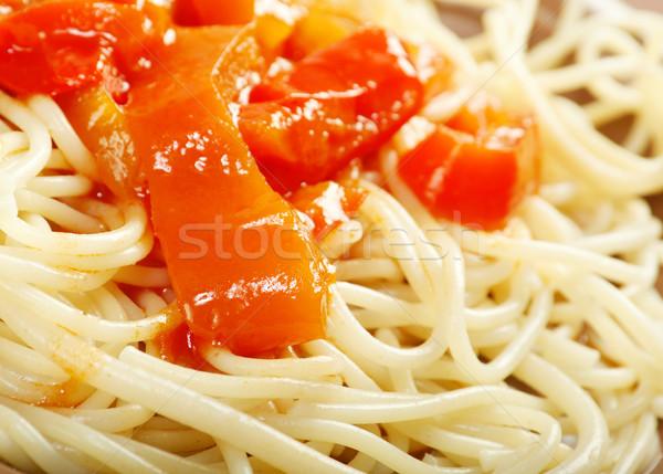 Close up spaghetti  Stock photo © fanfo