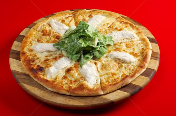 Pizza vlees kip Italiaans keuken studio Stockfoto © fanfo