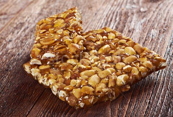 Peanut brittle sweet hard Stock photo © fanfo