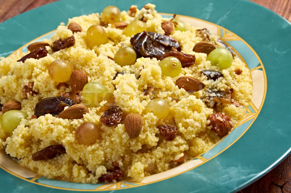 Mesfouf - Citrus Couscous Salad  Stock photo © fanfo