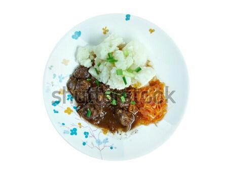 zuppa con carne di manzo Stock photo © fanfo
