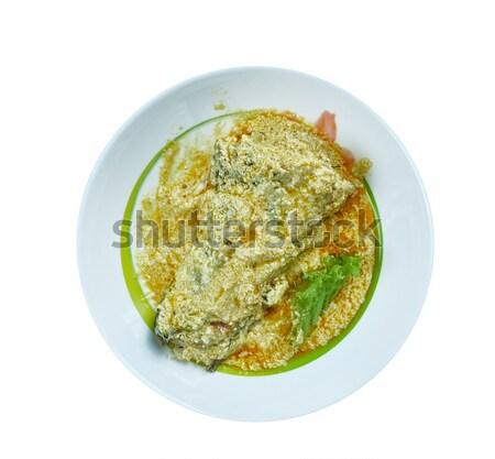 Cremoso pollo tortilla sopa alimentos queso Foto stock © fanfo