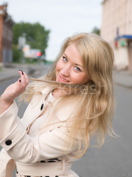 emotional blonde.outdoor Stock photo © fanfo