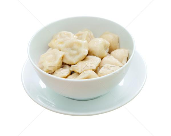 Traditional Russian food 'pelmeni'.Meat dumplings  Stock photo © fanfo