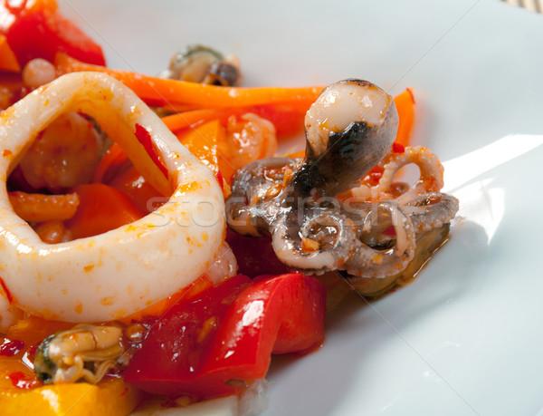 Keverék saláta tenger étel hal étterem Stock fotó © fanfo