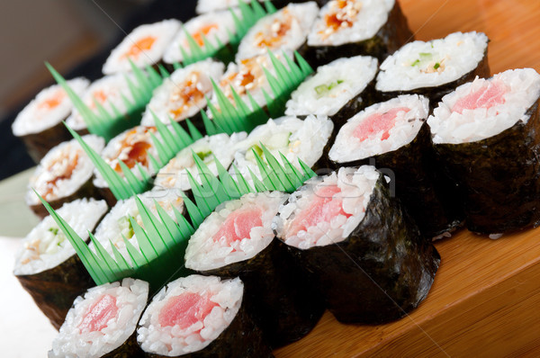 set of japanese sushi.  Stock photo © fanfo