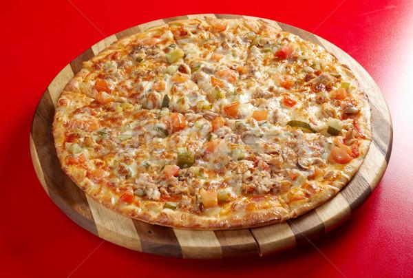Stok fotoğraf: Pizza · füme · tavuk · İtalyan · mutfak · stüdyo
