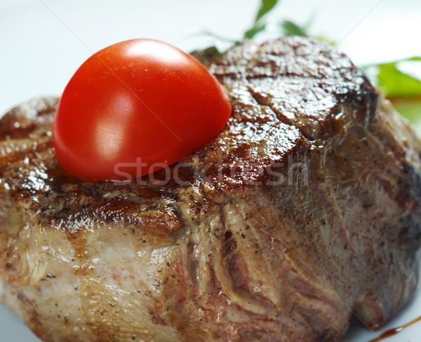 Grillés boeuf peu profond alimentaire couteau manger Photo stock © fanfo