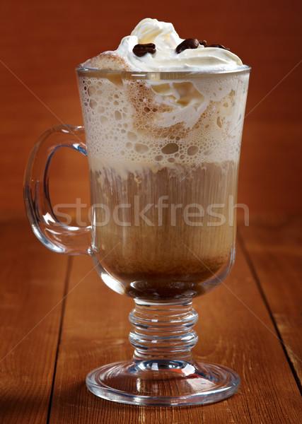 Irlandês café grãos de café uísque creme festa Foto stock © fanfo