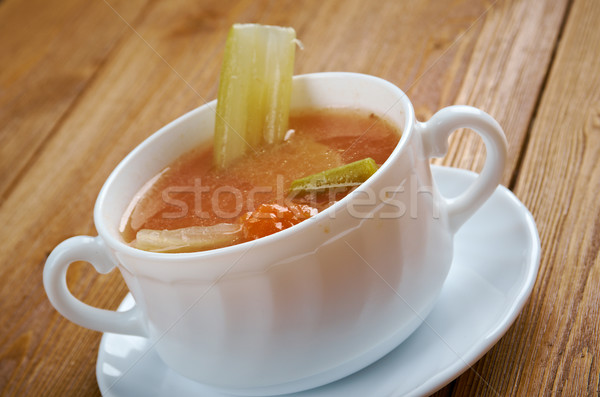 Chicken celery  with rice soup Stock photo © fanfo