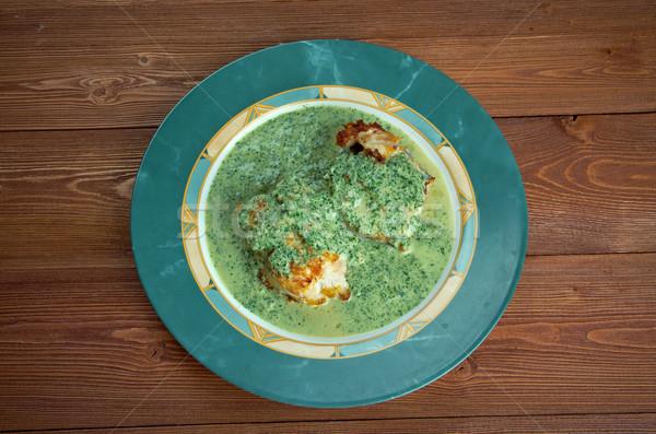 Salsa balık yeşil sos limon Stok fotoğraf © fanfo