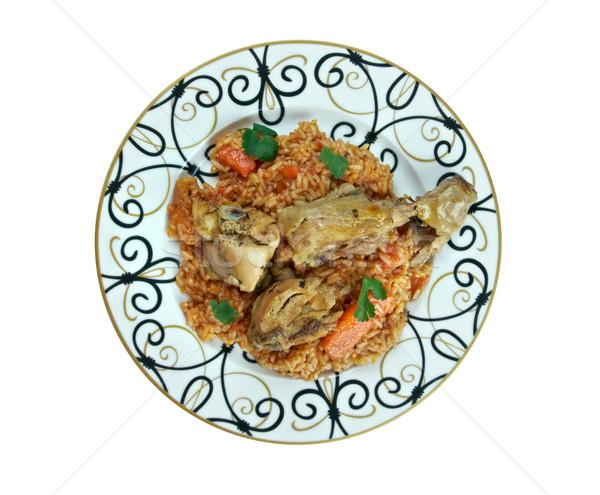 riz gras  poulet Stock photo © fanfo