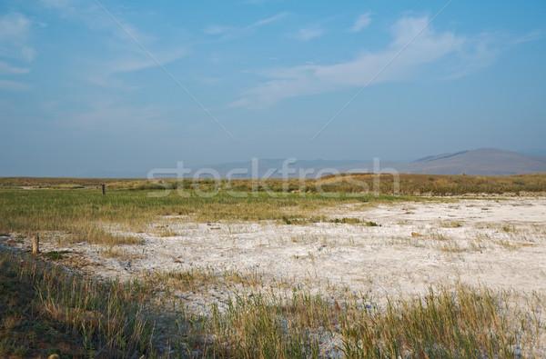 Kurutulmuş tuz gökyüzü dağ yaz seyahat Stok fotoğraf © fanfo