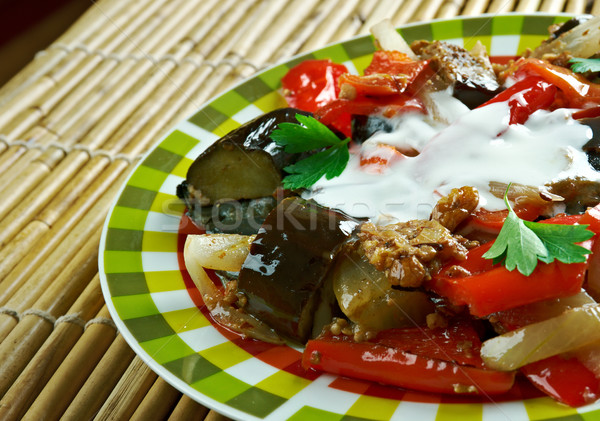 Spicy Braised Eggplant  Stock photo © fanfo