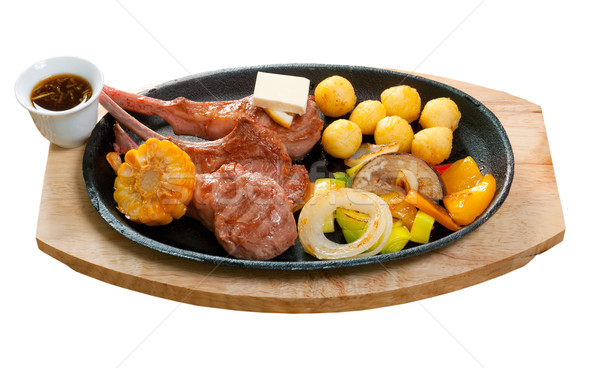 Japanese spare ribs on a plate  Stock photo © fanfo