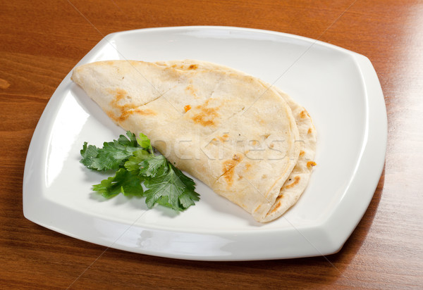 Pita chleba turecki żywności pszenicy biały Zdjęcia stock © fanfo