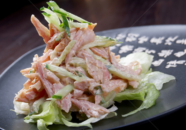 Giappone insalata pollo verdura primo piano pesce Foto d'archivio © fanfo