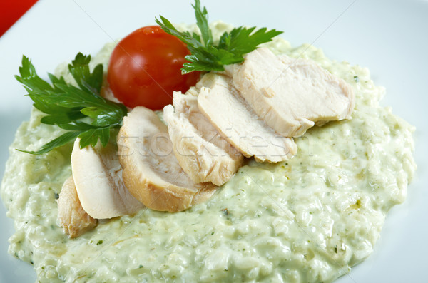 Risotto with chicken Stock photo © fanfo