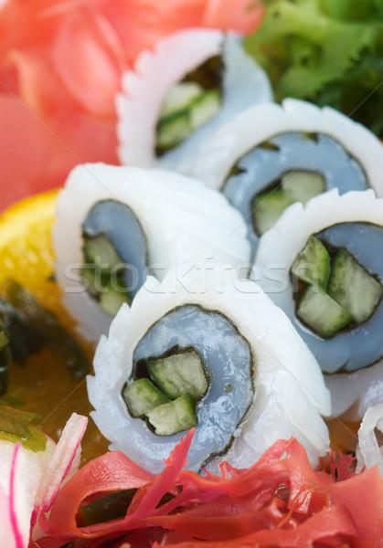 Салат морские водоросли продовольствие пластина блюдо Сток-фото © fanfo