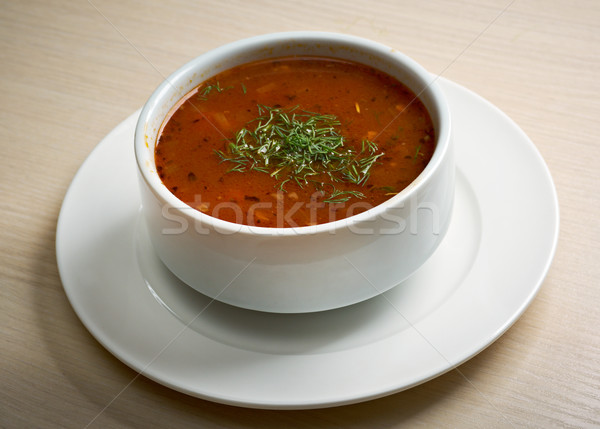 hearty spicy Mexican soup Stock photo © fanfo
