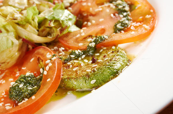 Stock photo: Tasty roasted marrow and tomato
