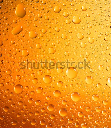 yellow water droplets background  Stock photo © fanfo