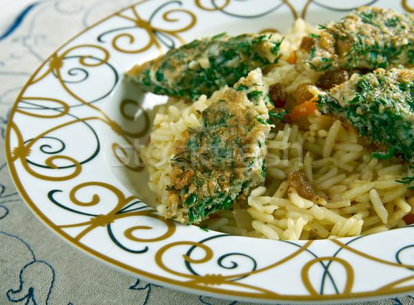 Wędzony ryb herb warzyw jedzenie asia Zdjęcia stock © fanfo