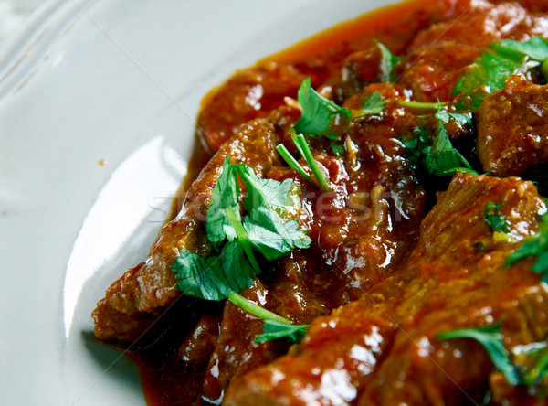Húngaro carne guisada cozinhar pote carne Foto stock © fanfo