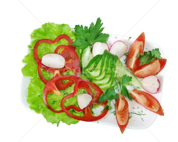 Plantaardige arrangement ondiep gezondheid plaat kok Stockfoto © fanfo