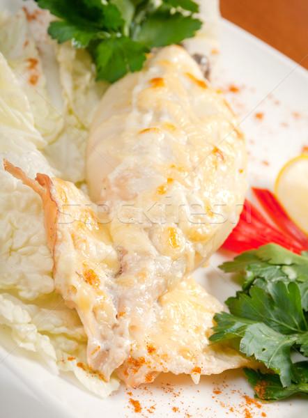 Stock fotó: Tintahal · töltött · hal · zöldségek · étel · ázsiai