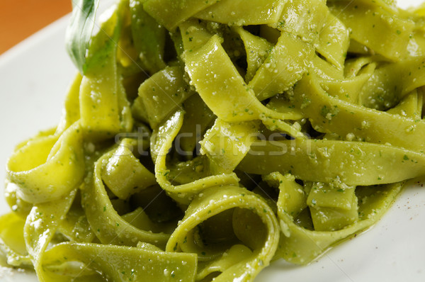 Tagliatelle pasta with pesto  Stock photo © fanfo