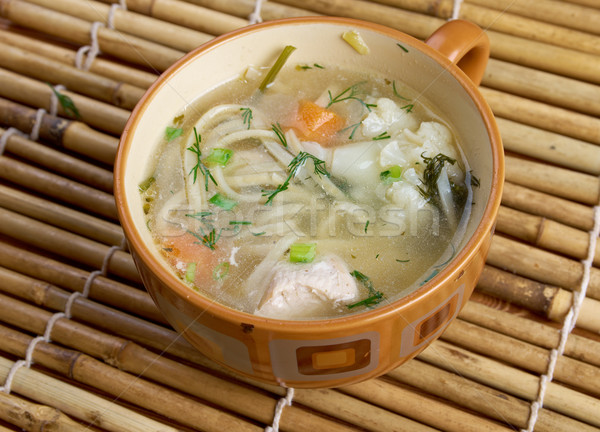 chicken noodle soup - broth. Stock photo © fanfo