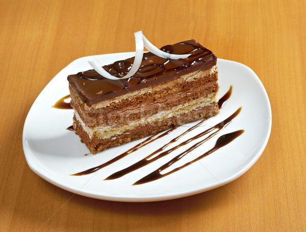 Сток-фото: торт · шоколадом · белый · пластина · совета